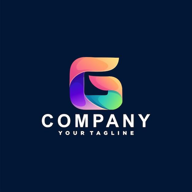 Design do logotipo gradiente letra g