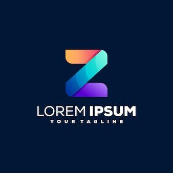Design do logotipo gradiente letra z