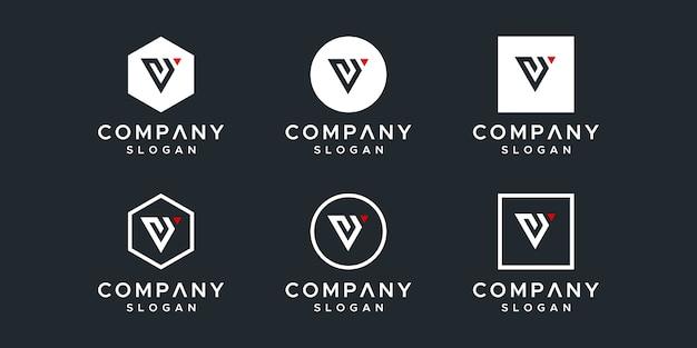 Design do logotipo initials vy