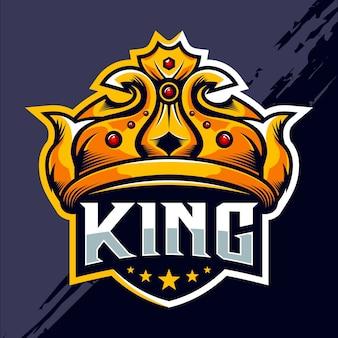 Design do logotipo king crown esport