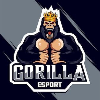 Design do logotipo king gorilla esport