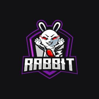 Design do logotipo rabbit esport