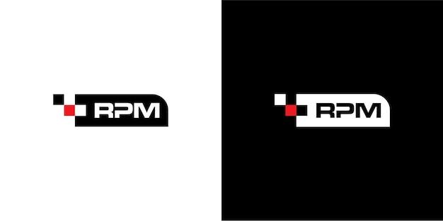 Design do logotipo rpm para automotivo