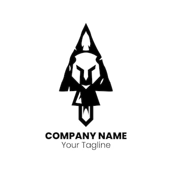 Design do logotipo sparta spear