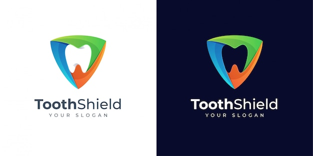 Design do logotipo tooth shield