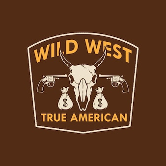 Design do logotipo wild west