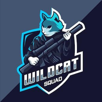 Design do logotipo wildcats squad esport