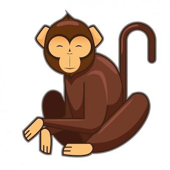 Design do macaco colorido