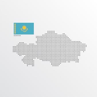 Design do mapa do cazaquistão