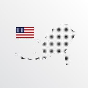 Design do mapa norte dos estados unidos da américa