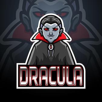 Design do mascote do logotipo drácula esport