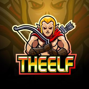 Design do mascote do logotipo elf esport