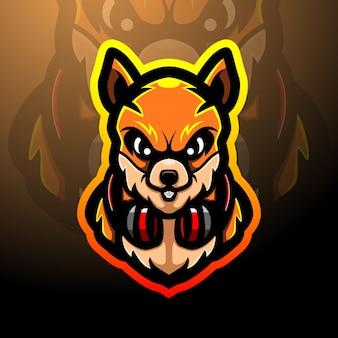 Design do mascote do logotipo squirrel esport