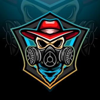 Design do mascote do logotipo toxic esport