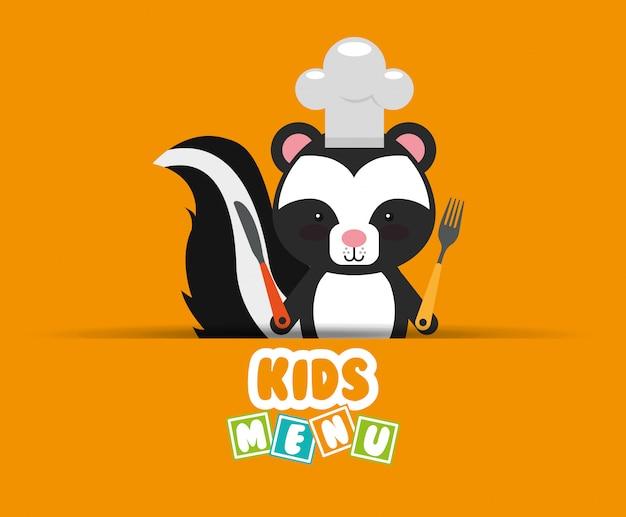 Design do menu crianças
