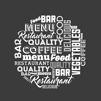 Design do menu do restaurante