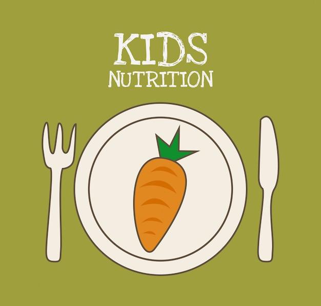 Design do menu para crianças