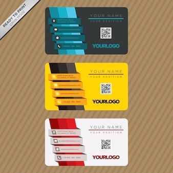 Design do modelo do cartão de visita