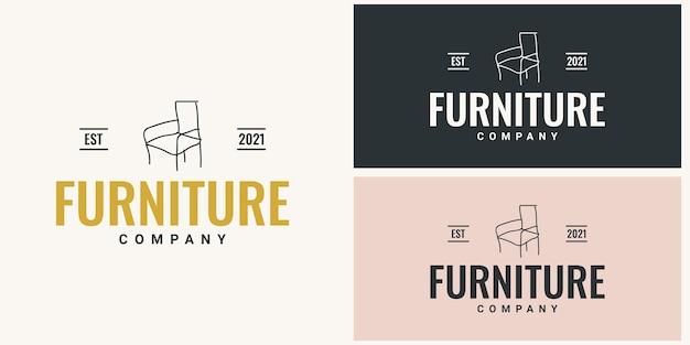 Design do modelo do logotipo da empresa de móveis