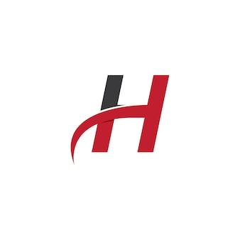 Design do modelo do logotipo da letra h