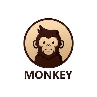 Design do modelo do logotipo do macaco