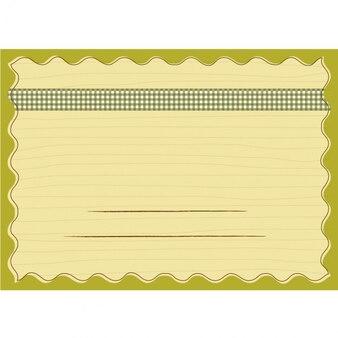 Design do modelo infantil para o cartão de escola e de aniversário