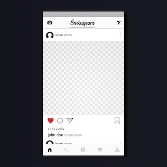 Design do modelo instagram