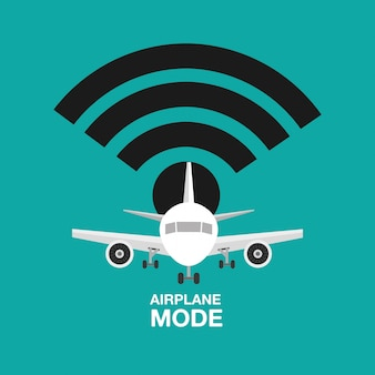 Design do modo avião, wifi desligado