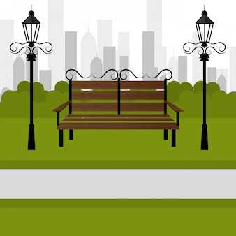 Design do parque urbano.