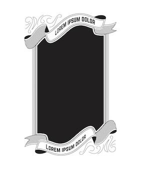 Design do quadro do vintage