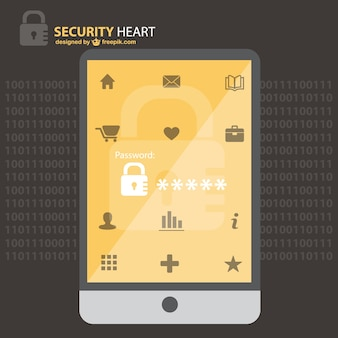 Design do telefone vetor segurança