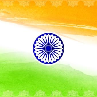 Design do tema da bandeira indiana elegante