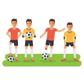 Design dos jogadores de futebol
