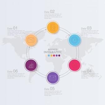 Design e ícones de infográficos de círculos