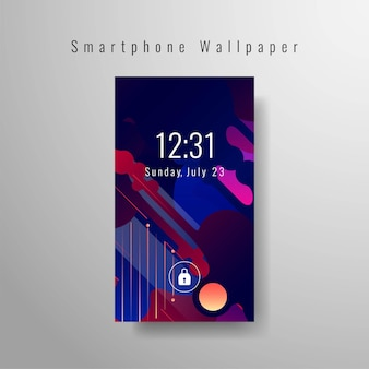 Design elegante abstrato de papel de parede para smartphone