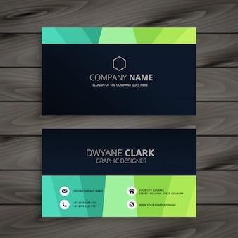 Design elegante cartão de visita escuro