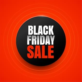 Design elegante com fundo preto e vermelho para venda na sexta-feira