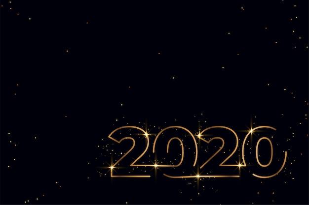 Design elegante de ano novo em preto e dourado