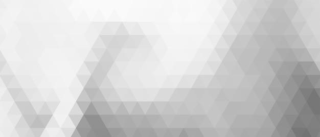 Design elegante de banner com triângulo cinza e branco