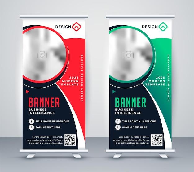 Design elegante de banner de negócios enrolado