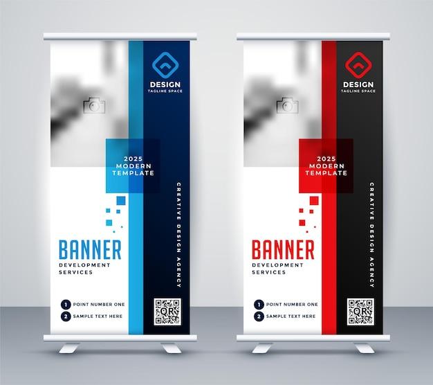 Design elegante de banner roll-up standee