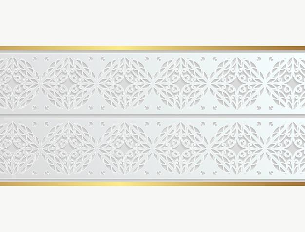 Design elegante de borda decorativa branca