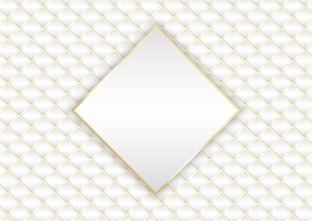 Design elegante de fundo branco e dourado