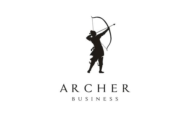 Design elegante de logotipo de arqueiro