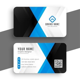 Design elegante de modelo de negócios em azul