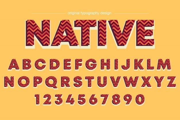 Design elegante de tipografia de listras vermelhas
