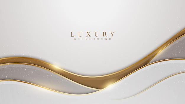Design elegante de tom marrom com sobreposição de branco