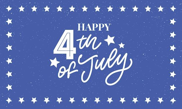 Design elegante do dia da independência americana para quatro de julho