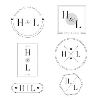 Design elegante dos monogramas do casamento