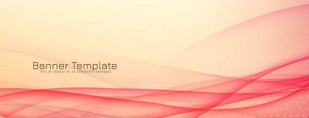 Design elegante e elegante de banner ondulado